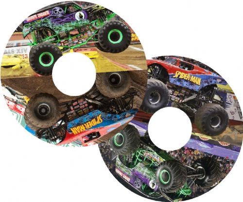 MONSTER TRUCK Wheelchair Spoke Guard Sticker Skins